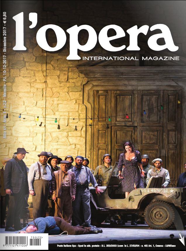 Ariadimusica è sulla rivista L'Opera di dicembre 2017!