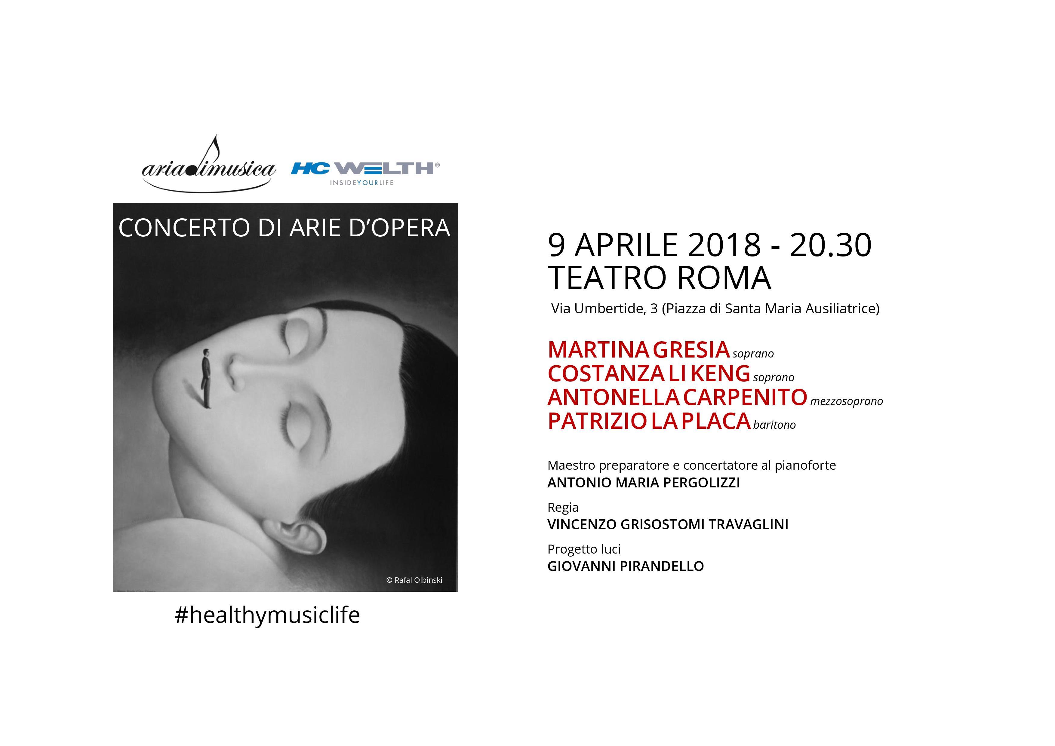 Concerto al Teatro Roma 9 aprile 2018 #healthymusiclife
