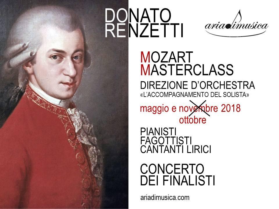 Mozart Marsterclass di Direzione d'Orchestra con il M° Donato Renzetti - aggiornamento 2a sessione OTTOBRE 2018