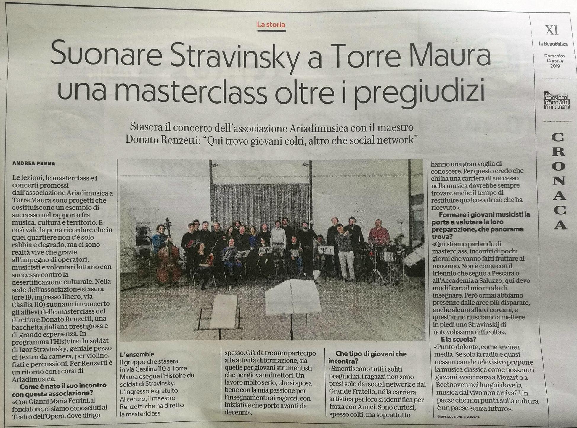 La Repubblica 14/4/2019