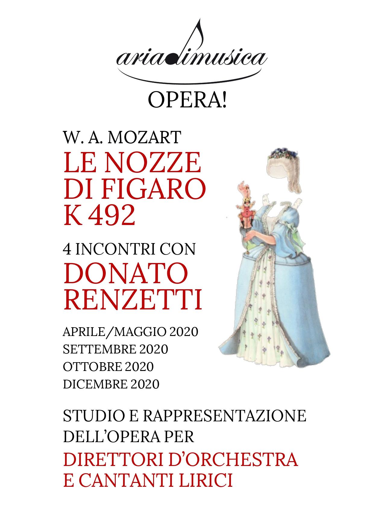 Preselezione cantanti lirici progetto Opera! Le Nozze di Figaro con il M⁰ Donato Renzetti