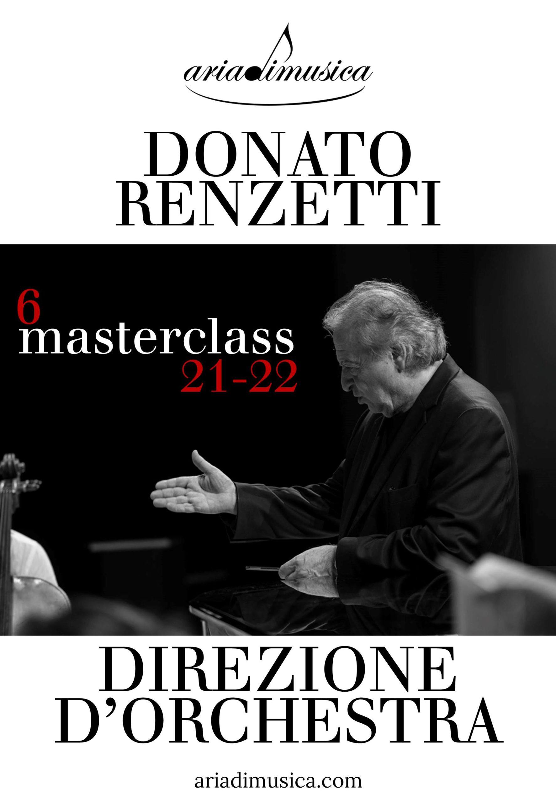 6 masterclass di direzione d'orchestra con il M° Donato Renzetti!